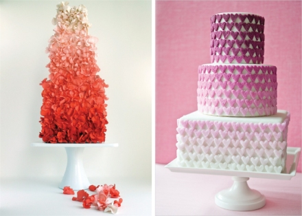 ombre-wedding-cakes-pink-red-magenta-purple-orange