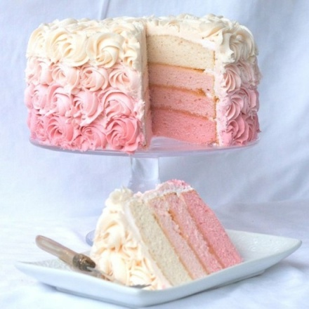 Rose Ombre Cake